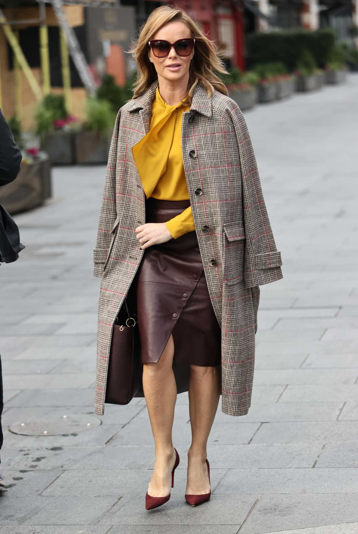 Amanda Holden in a Yellow Blouse