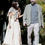 Ana De Armas in a Beige Skirt Was Seen Out with Ben Affleck at a Park in Santa Monica 11/28/2020