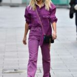 Ashley Roberts in a Purple Denim Outfit Leaves Radio Breakfast Show in London 11/12/2020