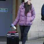 Becky Nicholson in a Purple Puffer Jacket Was Seen Out in Nottingham 11/28/2020
