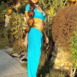 Blanca Blanco Slips Into Costume as Princess Jasmine from Alladin for Halloween in West Hollywood 10/31/2020
