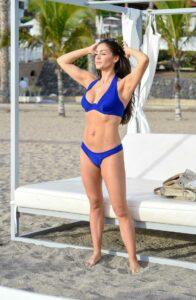 Casey Batchelor in a Blue Bikini