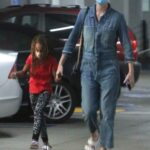 Charlize Theron in a Protective Mask Visits the Hospital with Her Daughter in Los Angeles 11/04/2020