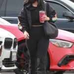 Cheryl Burke in a Black Protective Mask Arrives at the DWTS Studio in Los Angeles 11/07/2020
