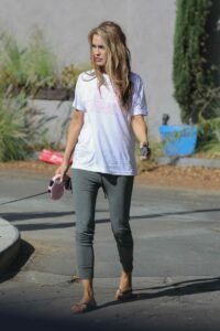 Chrishell Stause in a White Tee