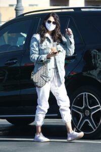 Eiza Gonzalez in a White Sneakers