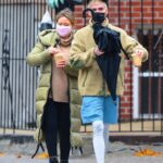 Hilary Duff in an Olive Puffer Coat Takes Her Family Out for Breakfast in New York 11/14/2020