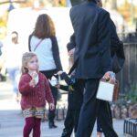 Irina Shayk in a Black Blazer Enjoys a Walk with Her Daughter in New York 11/20/2020
