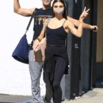 Jenna Johnson in a Black Top Arrives at the DWTS Studio in Los Angeles 10/30/2020