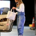 Jennifer Lopez in a Denim Jumpsuit Arrives at Soho House for a Dinner Date in Beverly Hills 10/31/2020