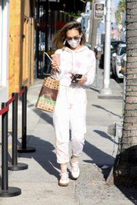 Jessica Alba in a Protective Mask