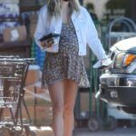 Jessica Hart in a White Jacket Goes Shopping in Los Angeles 11/05/2020