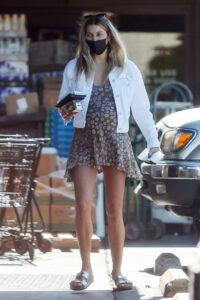 Jessica Hart in a White Jacket