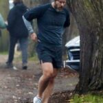 Jude Law in a Grey Knit Hat Was Seen Out for a Jog in London 11/28/2020
