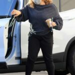 Justina Machado in a Protective Mask Arrives for Dance Practice at the DWTS Studio in Los Angeles 11/12/2020