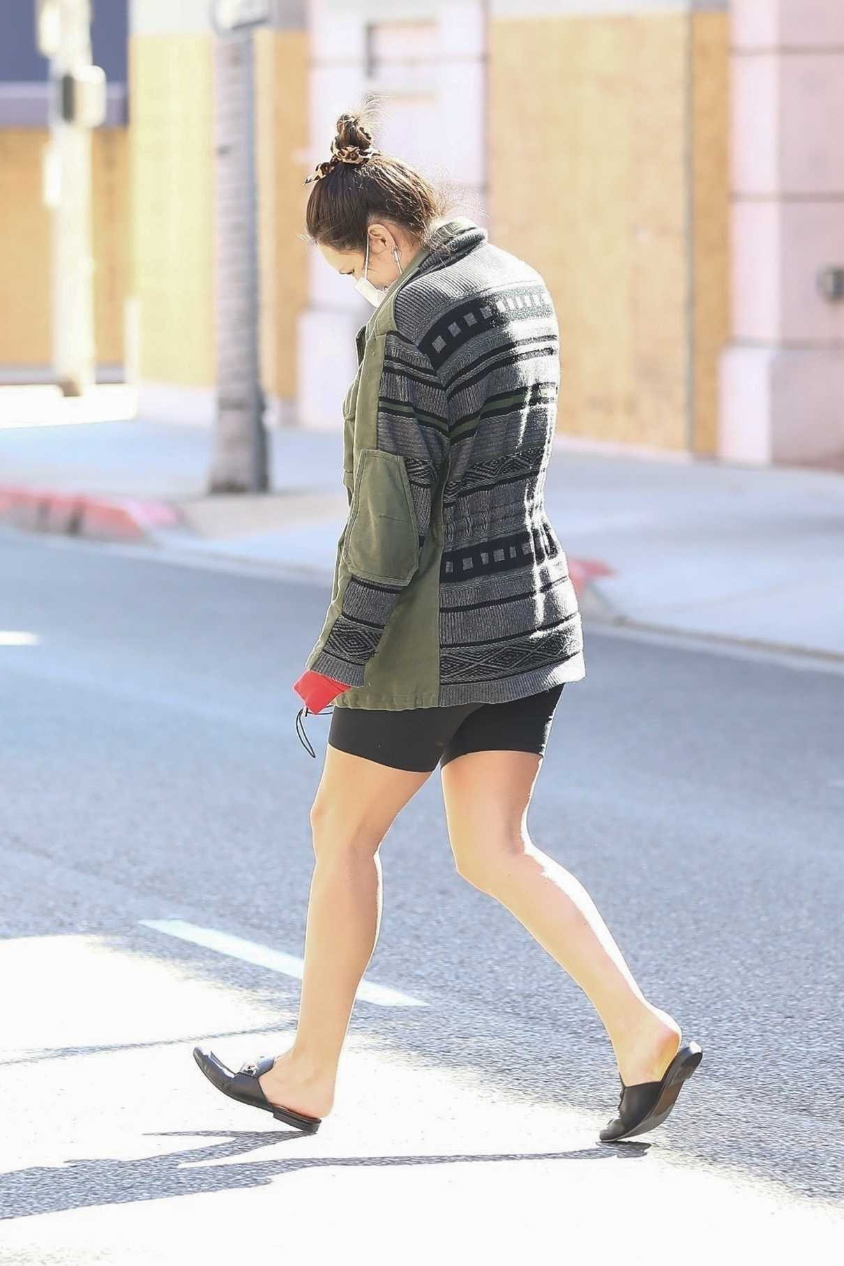 Katharine McPhee in a Black Spandex Shorts