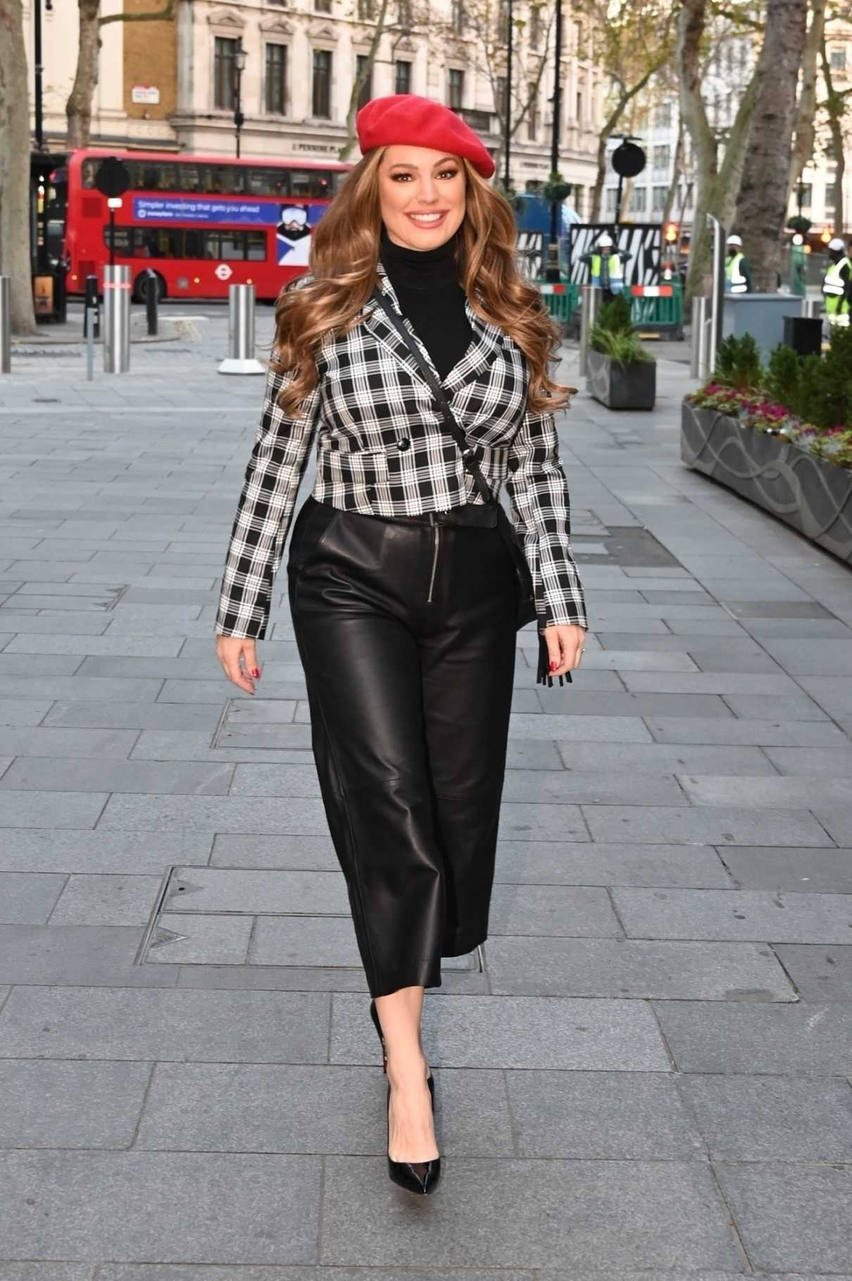 Kelly Brook in a Red Beret