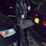 Kendall Jenner in a Black Leather Blazer Was Seen Out in New York City 11/21/2020