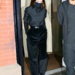 Kendall Jenner in a Black Outfit Was Seen Out for Dinner at Carbone in New York 11/19/2020