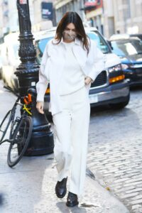 Kendall Jenner in a White Outfit