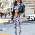 Bai Ling in a Dollar Print Outfit Was Seen Out in West Hollywood 12/21/2020