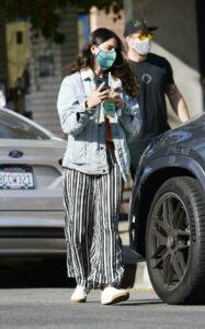 Eiza Gonzalez in a Striped Pants