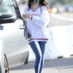Eiza Gonzalez in a White Sweatshirt Was Seen Out in Los Angeles 12/14/2020