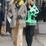 Elsa Hosk in a Black Protective Mask Was Seen Out with Tom Daly in New York 12/04/2020