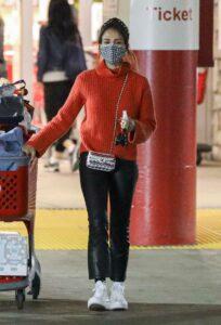 Jessica Alba in a Red Sweater