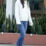 Jordana Brewster in a White Sweater Was Seen Out in Brentwood 12/11/2020