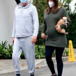 Katharine McPhee in a Protective Mask Enjoys a Morning Stroll Out with David Foster in Beverly Hills 12/21/2020