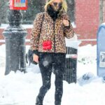 Nicky Hilton in an Animal Print Puffer Jacket Was Seen Out in New York 12/18/2020
