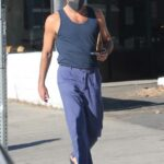 Zachary Quinto in a Black Tank Top Gets Some Christmas Shopping Done Out in Los Feliz 12/19/2020
