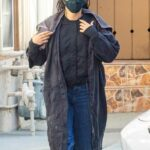 Camila Mendes in a Protective Mask Leaves Her Hair Salon in Studio City 01/03/2021