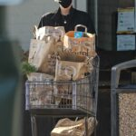 Charlize Theron in a Black Cap Stops by Bristol Farms for Groceries in Beverly Hills 01/04/2021