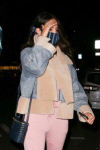 Eiza Gonzalez in a Pink Sweatsuit