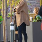 Elsa Hosk in a White Cap Leaves Blue Bottle Coffee in Studio City 01/01/2021