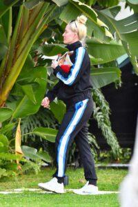 Erika Jayne in a Black Tracksuit
