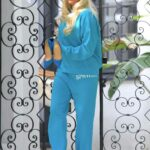 Erika Jayne in a Light Blue Sweatsuit Was Spotted Out in New York 01/28/2021