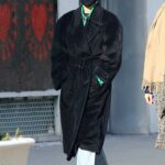 Gigi Hadid in a Black Coat Was Seen Out in New York 01/14/2021