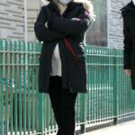 Hilary Duff in a Black Jacket on the Set of Younger in Manhattan, NYC 01/20/2021