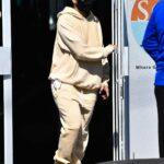 Jennifer Lopez in a Beige Sweatsuit Leaves the Gym in Miami 01/28/2021