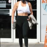 Jennifer Lopez in a White Top Leaves the Gym in Miami 01/16/2021