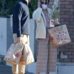 Jordana Brewster in a Protective Mask Picks Up Some Orchids Out with Mason Morfit for New Year's Eve in Los Angeles 12/31/2020
