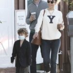 Jordana Brewster in a White Sweatshirt Was Seen Out with Her Boyfriend and Son in Los Angeles 01/14/2021