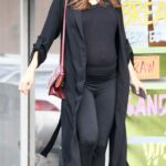 Katharine McPhee in a Black Outfit Arrives at Starbucks in Studio City 01/10/2021