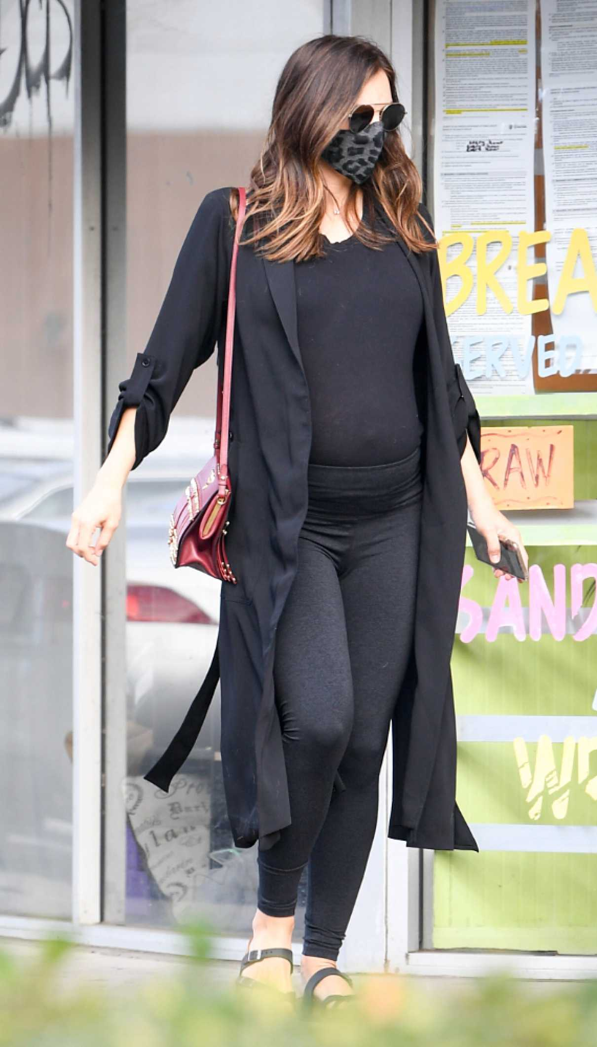Katharine McPhee in a Black Outfit