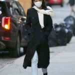 Katie Holmes in a Black Coat Was Seen Out in New York 01/18/2021