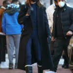 Kendall Jenner in a Black Coat Goes Shopping in Aspen 12/31/2020