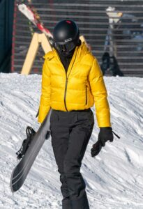 Kendall Jenner in a Yellow Prada Jacket